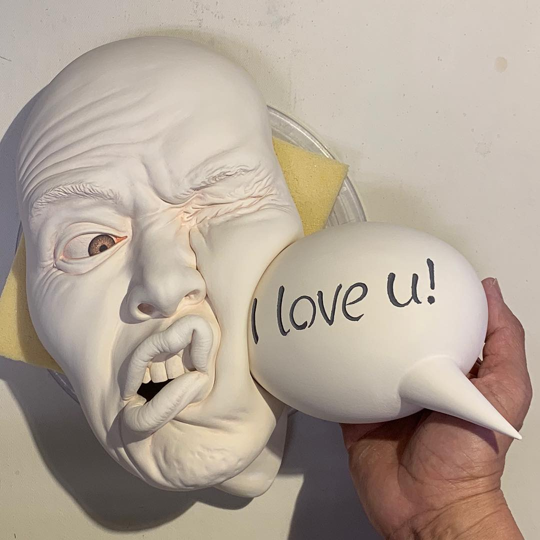 ceramic sculpture love