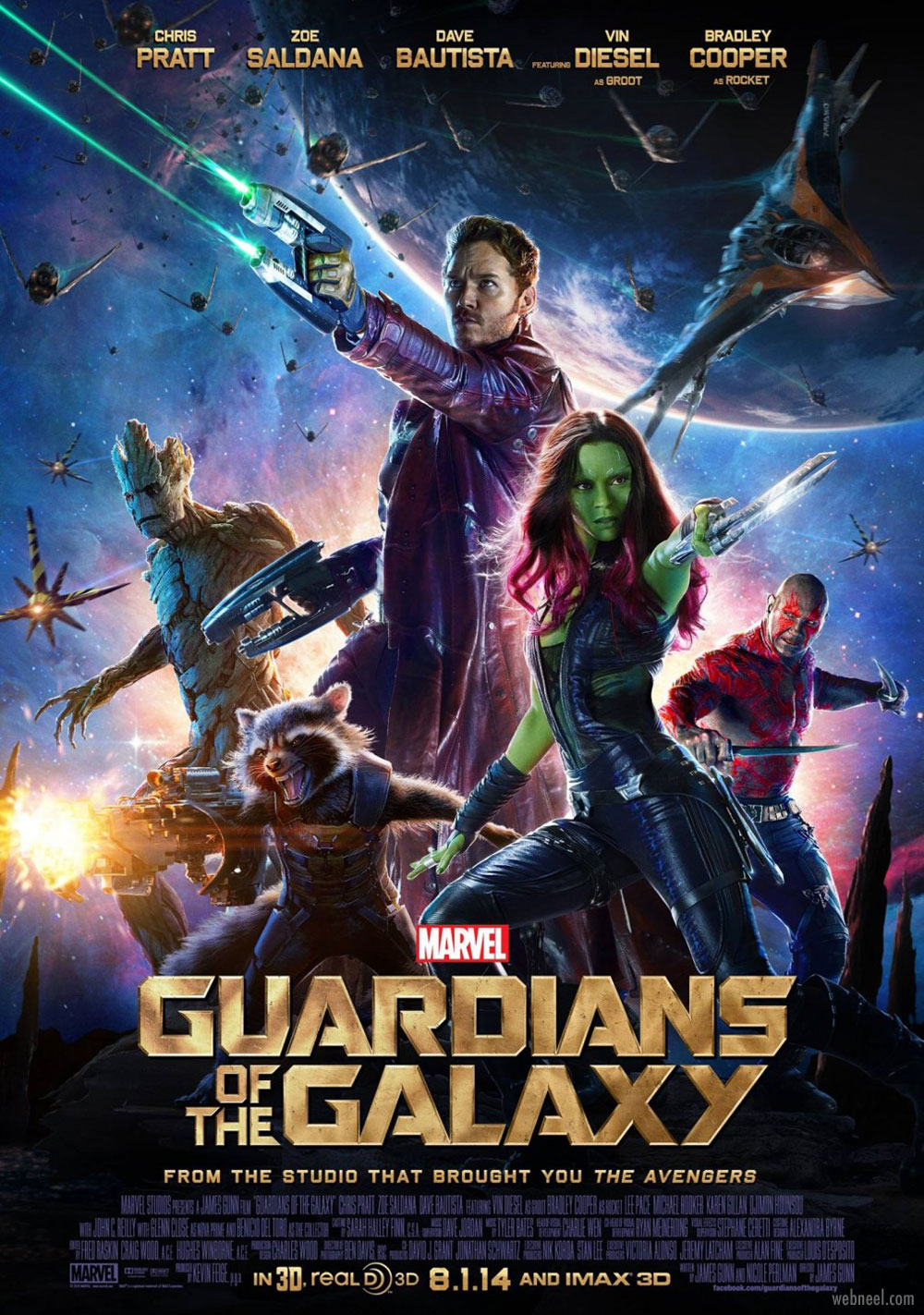 movie poster design guardians of galaxy glossy composite