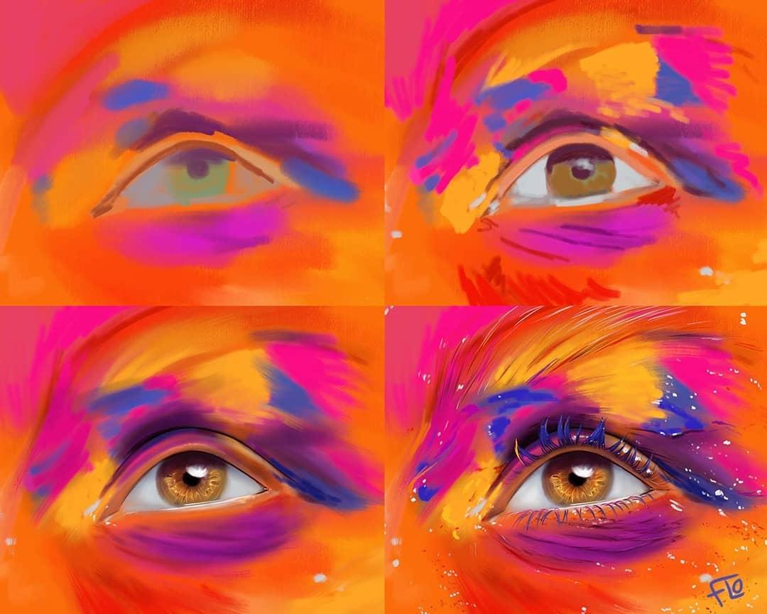 drawing eye step