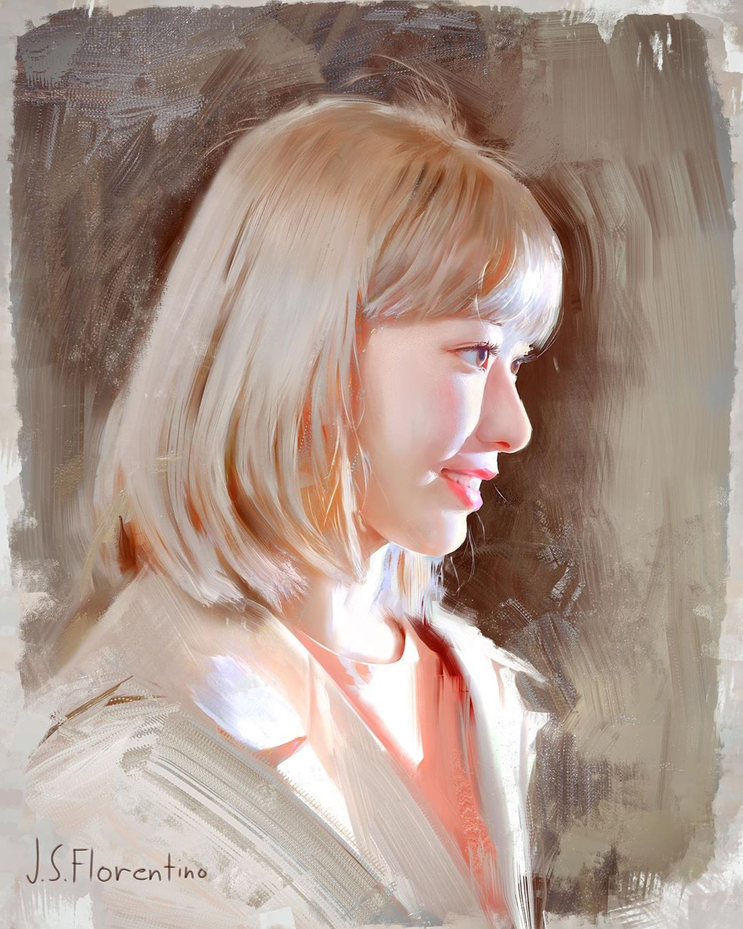 portrait paintings sakura by justine florentino