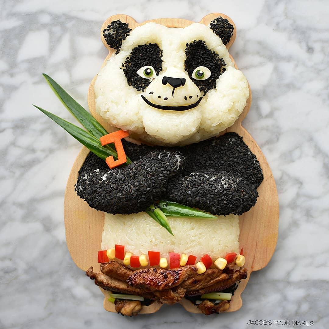 food art panda