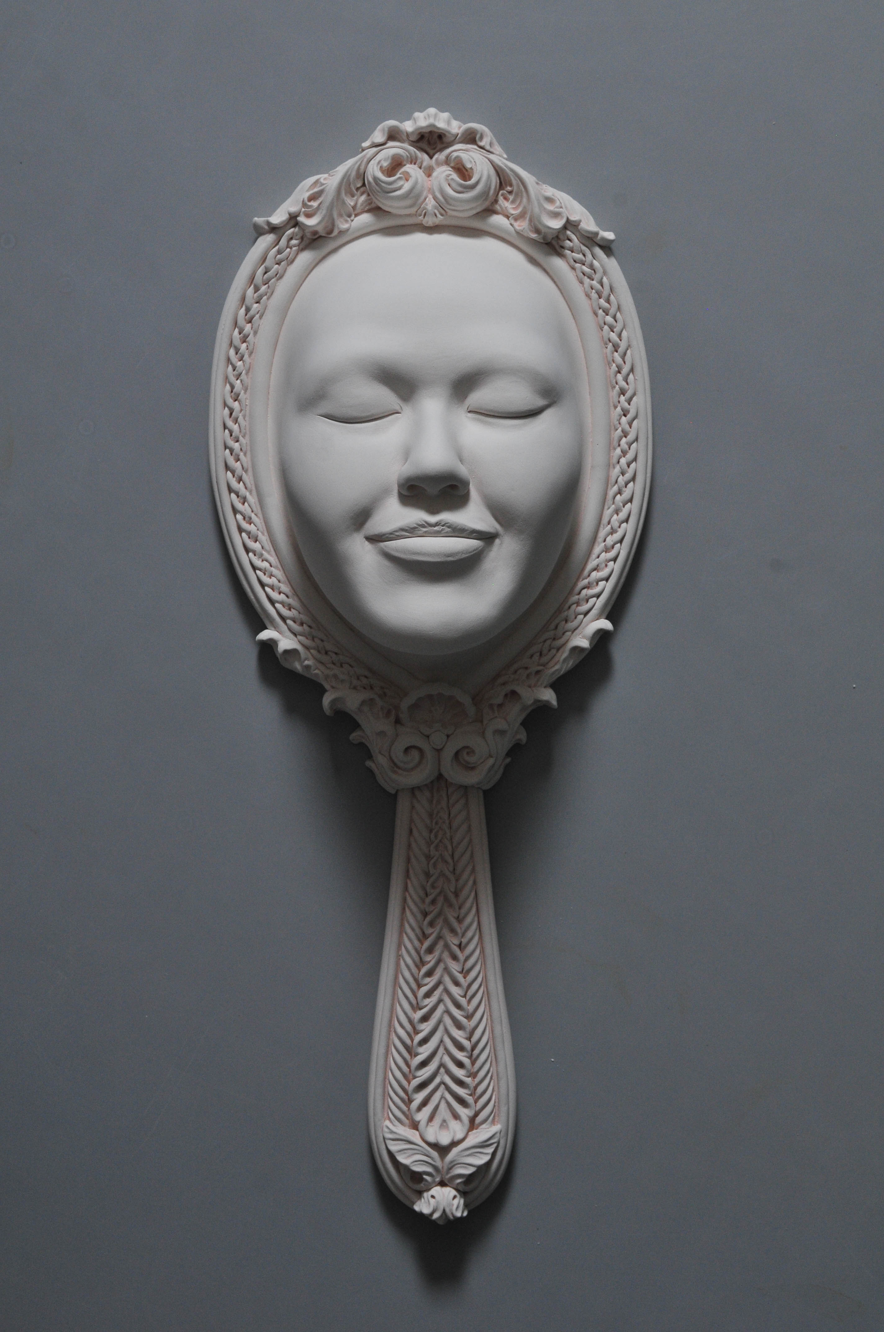 ceramic sculpture mirror
