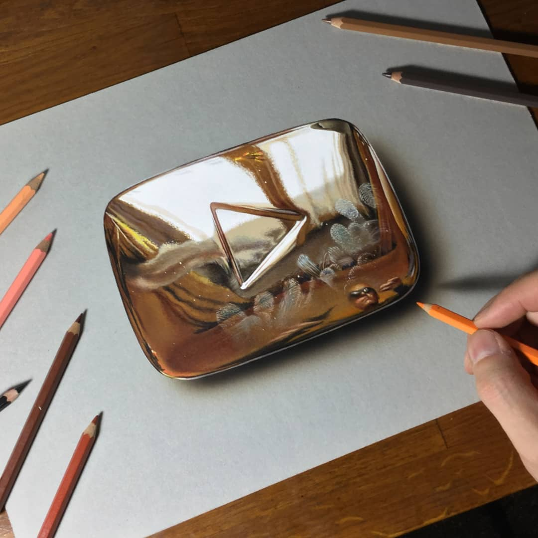 color pencil drawing shinycase by marcello barenghi