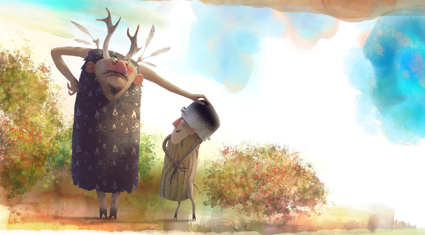 digital illustration art reindeer