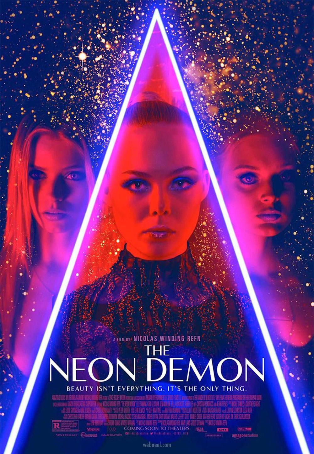movie poster design neon demon neon pop