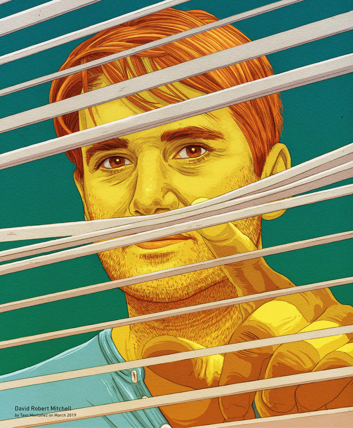 digital art illustration david robert mitchell by tavo montanez