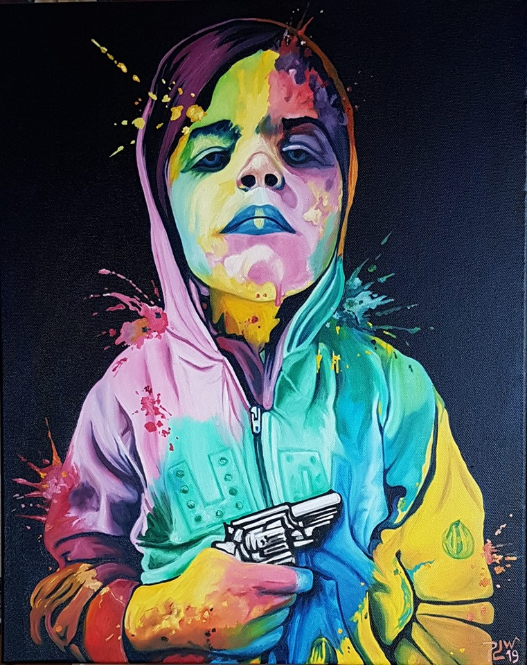 oil painting kid