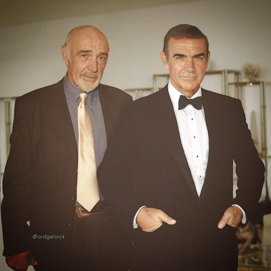 photo manipulation celebrity sean connery by ard gelinck