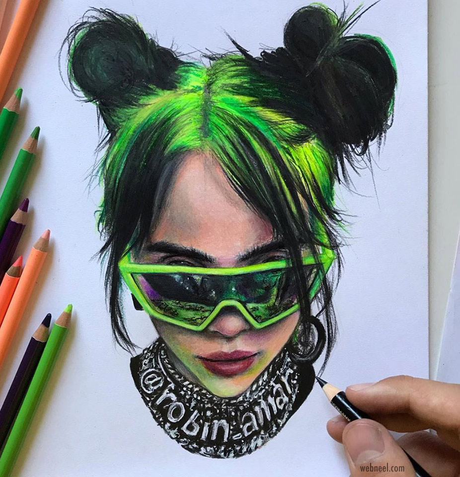 color pencil drawing by robin amar