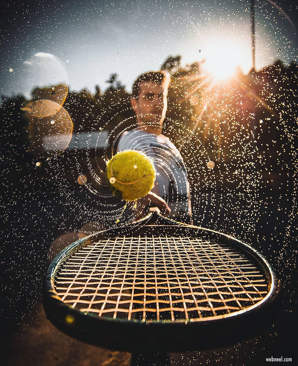 motion photography tennis ball by jordi koalitic