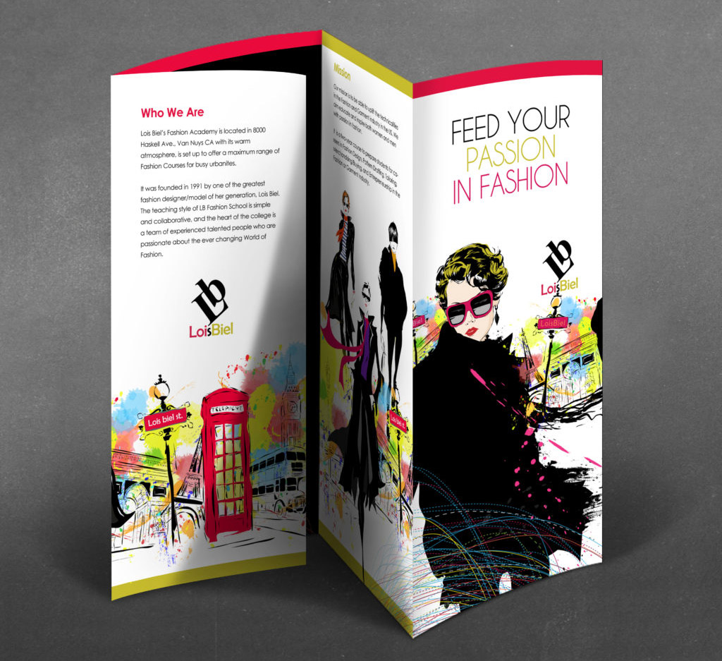 parallel map fold brochure design of fashion