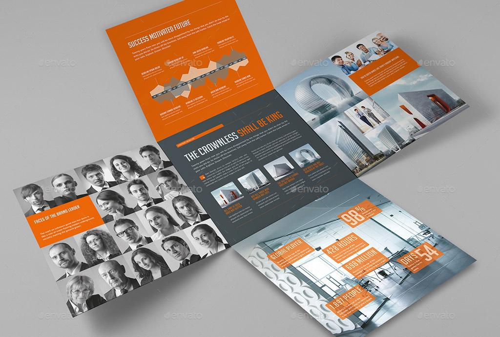 cross fold brochure design of real estate business