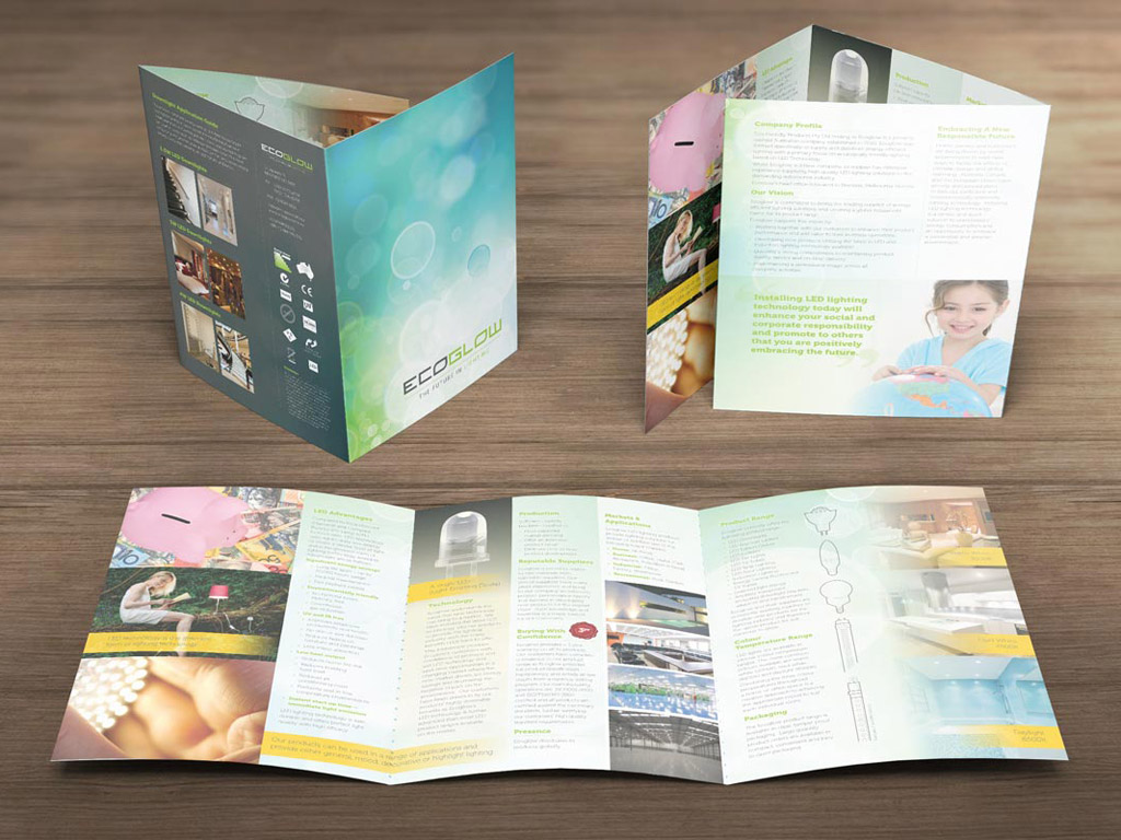 roll fold brochure design by burst creative
