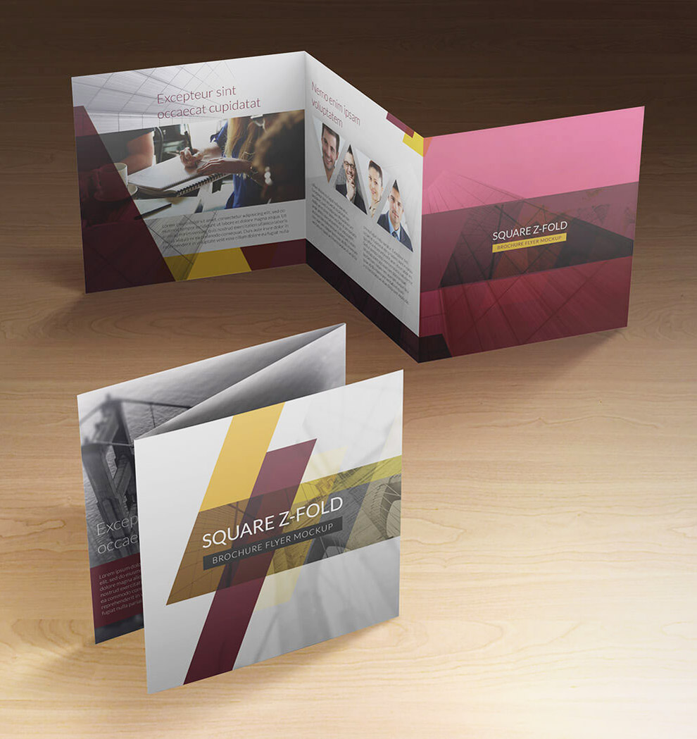 zfold brochure design in square shape