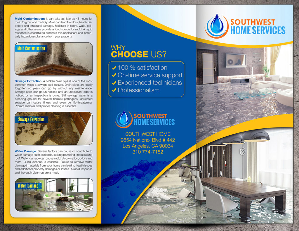 sales brochure design of southwest home services