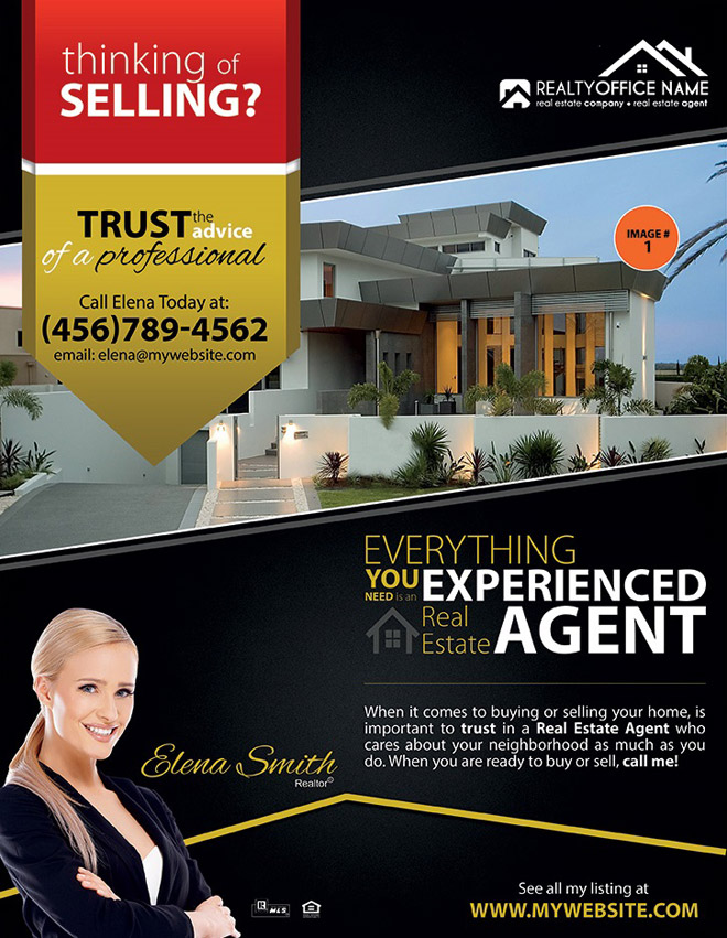 flyer design template for a realestate business