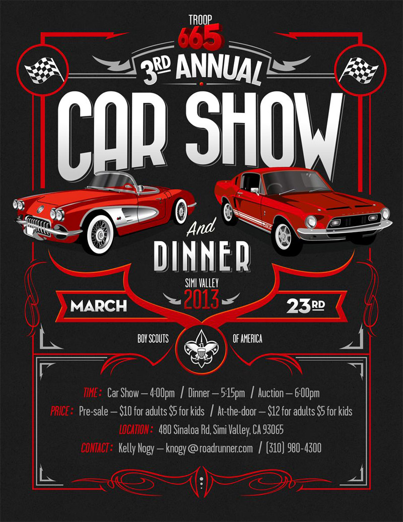 flyer design of an automotive brand event