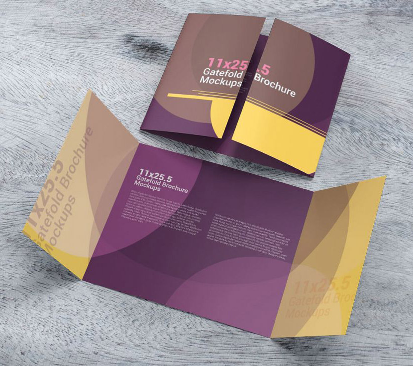 gatefold brochure design
