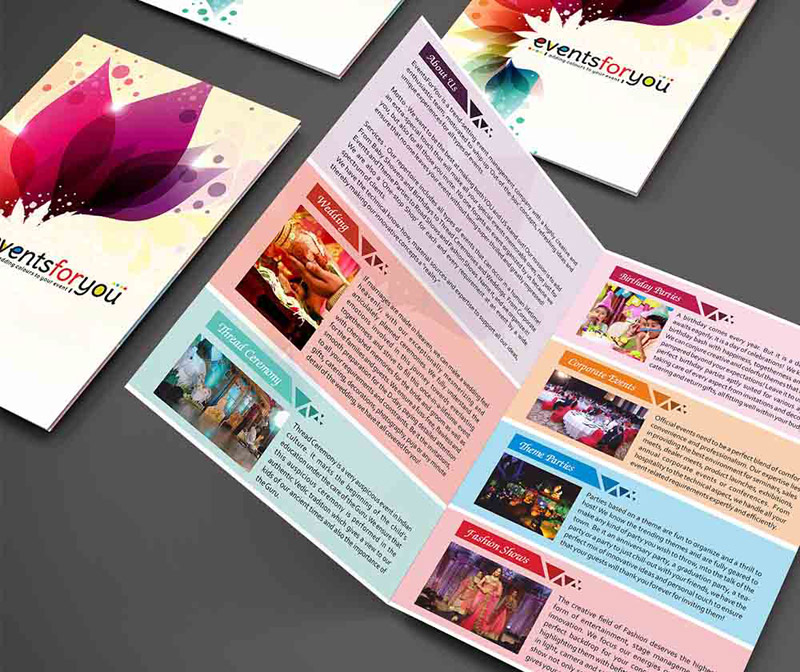 leave behind brochure design sample