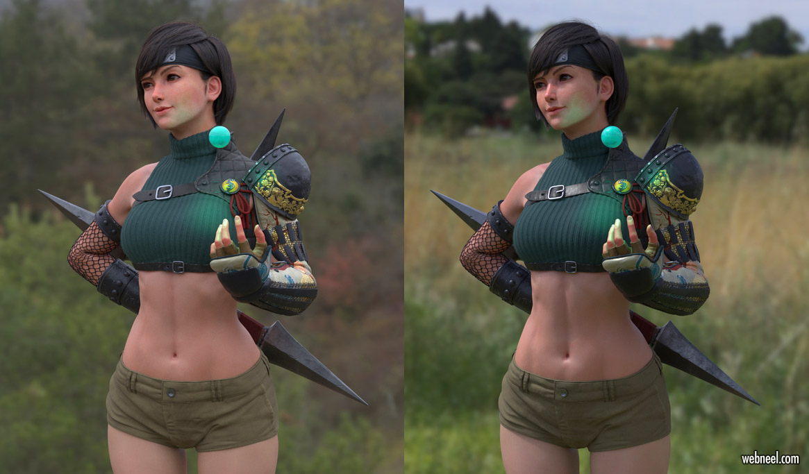 3d model fantasy fighter by davidkuo
