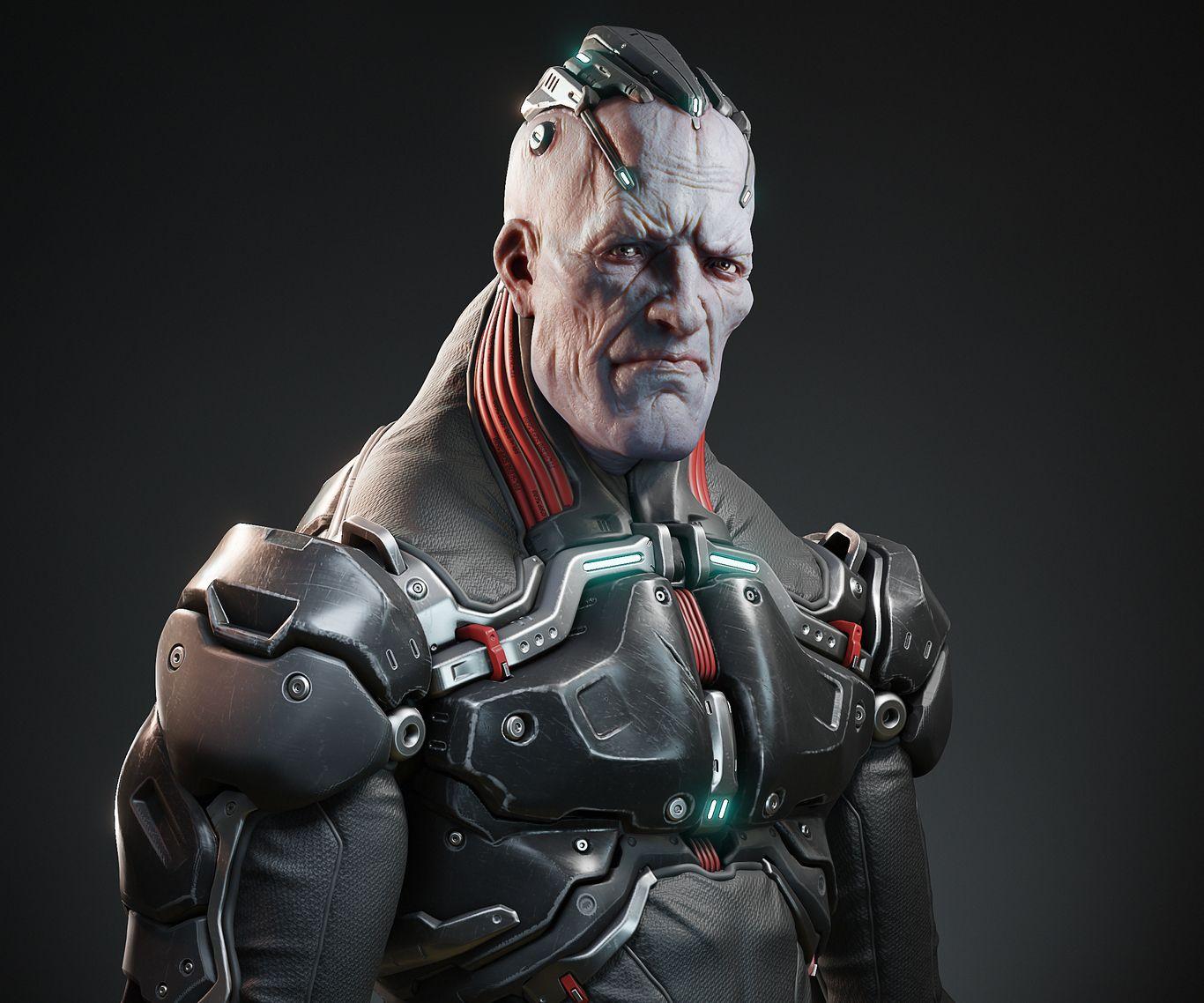 3d model monster robotic alien game character by nik morozov