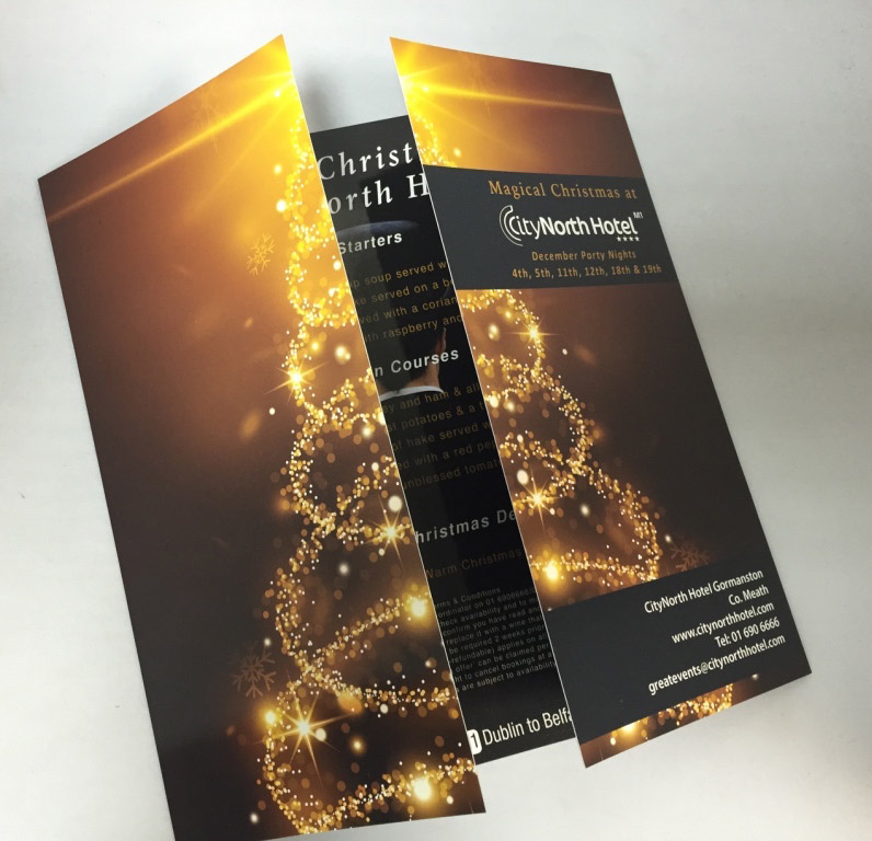 gatefold brochure design sample