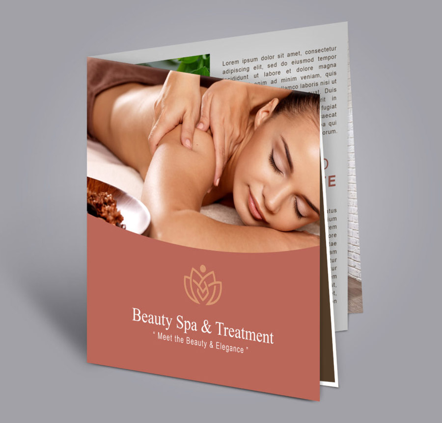 french fold brochure sample of a spa