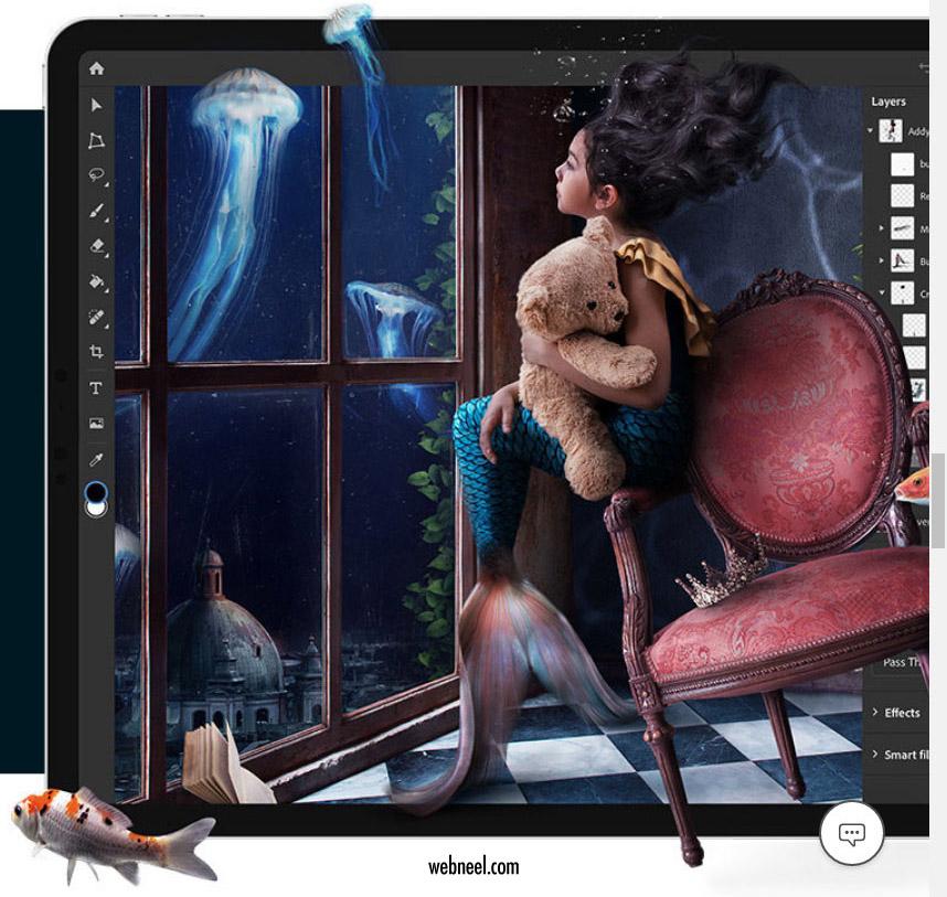 adobe photoshop spalsh screen 2020 surreal digital painting art