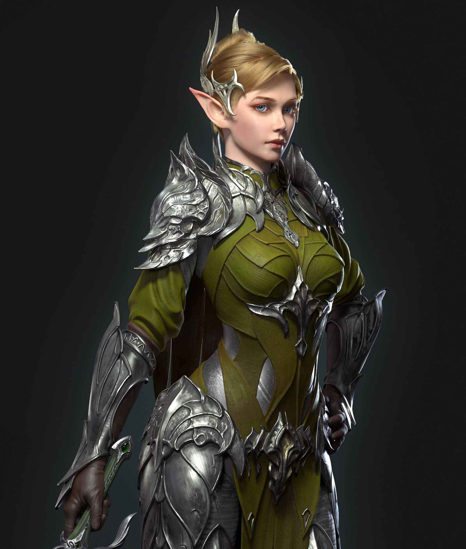 fantasy 3d model woman by ycf student luo you