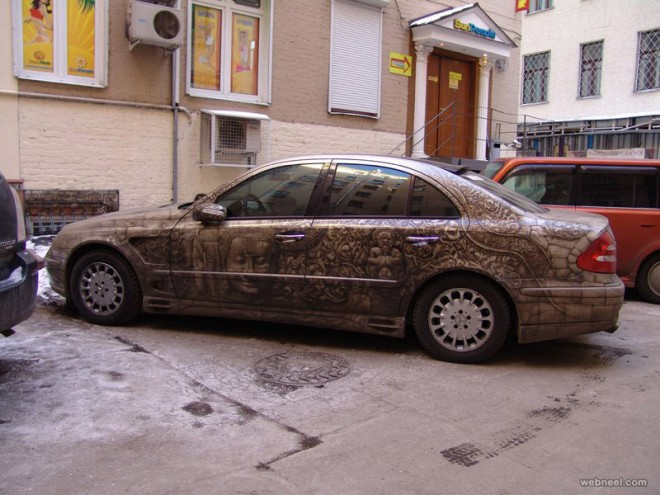car painting art