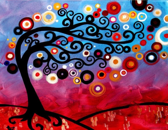 paintings of tree