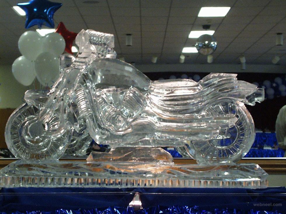 ice sculptures bike