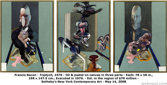 most expensive painting triptych