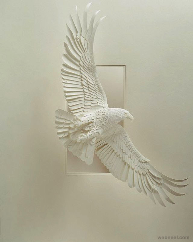 paper sculpture by calvin nicholls