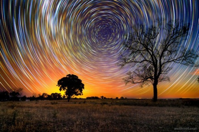 time lapse photography sky