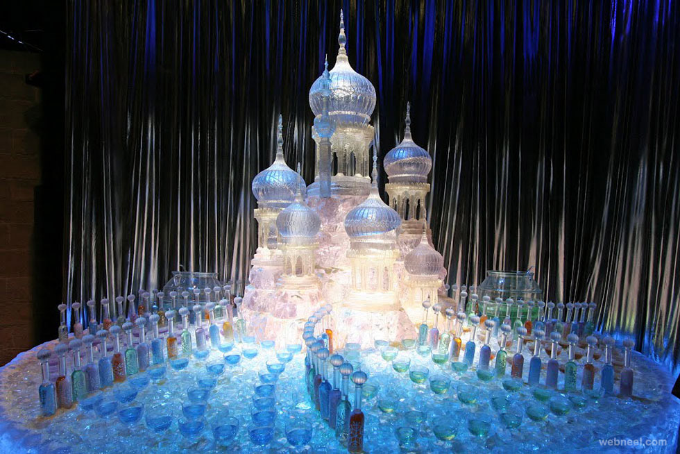 ice sculptures castle