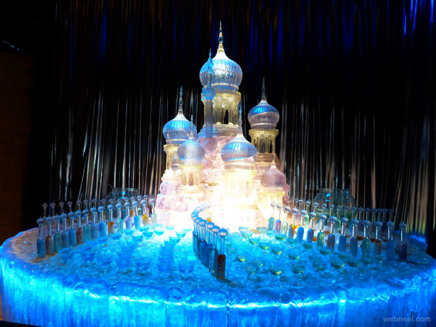 ice sculpture castle