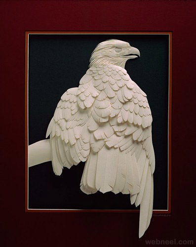 eagle paper sculpture