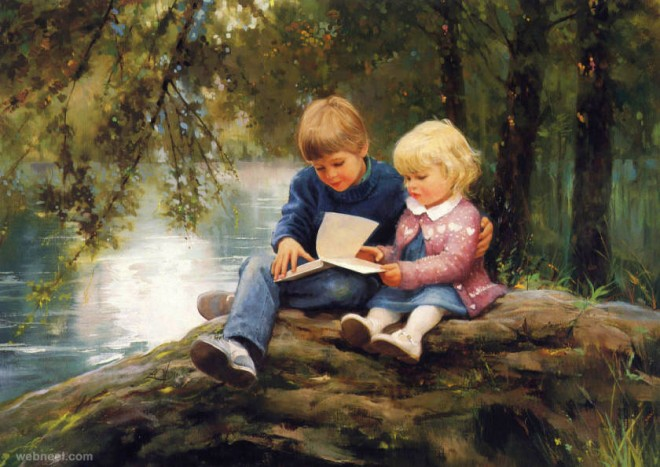 lovely baby painting