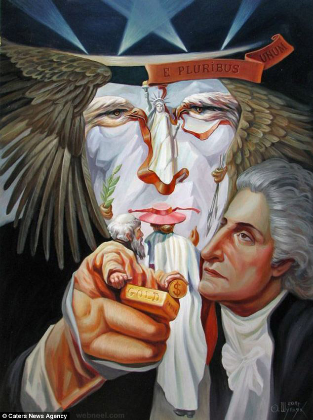 oleg shuplyak illusion painting uncle sam