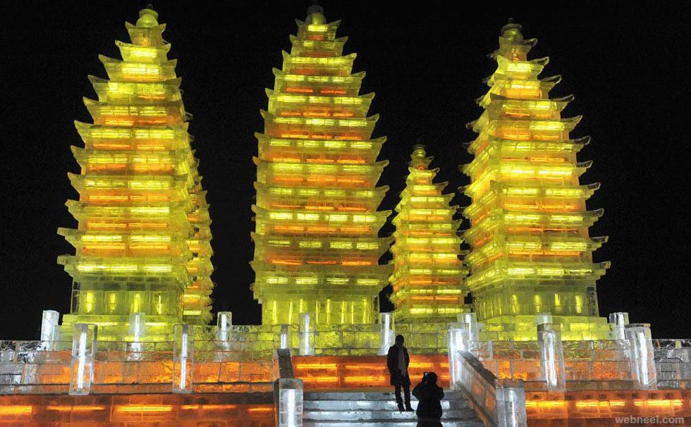 ice sculpture temple