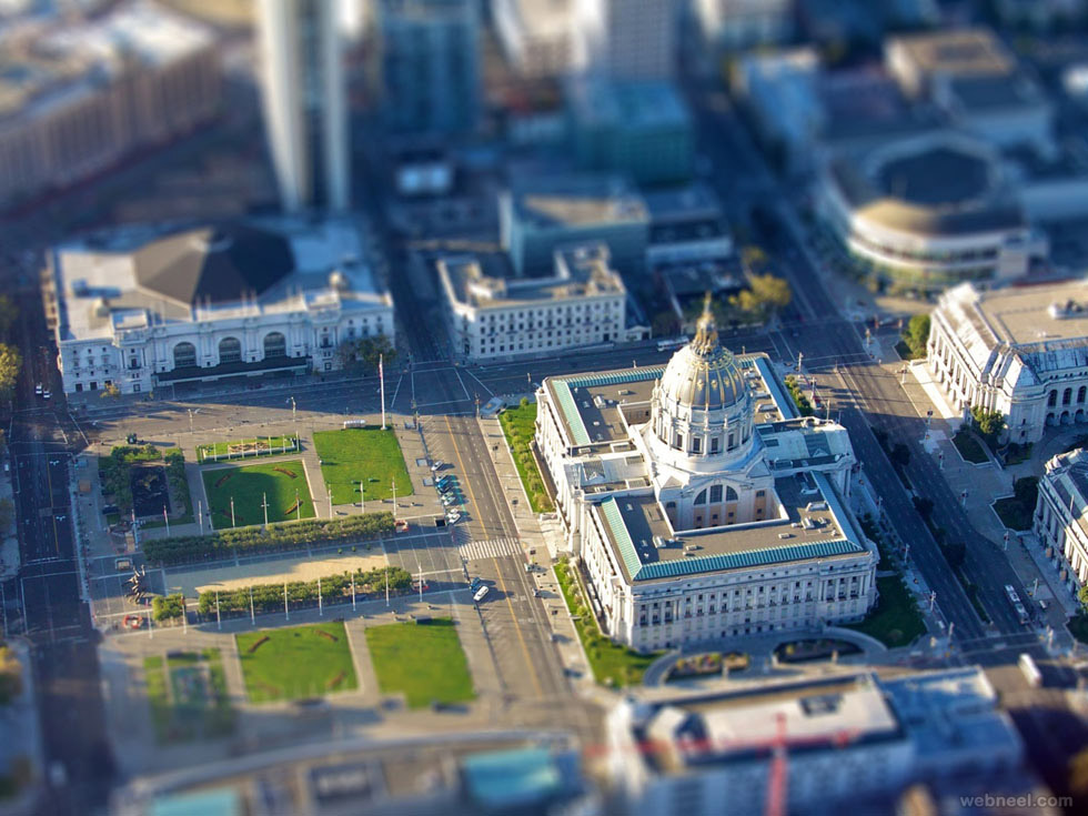tilt shift image