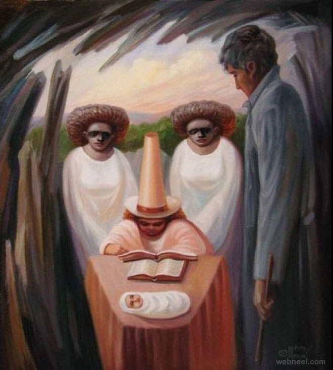 oleg shuplyak illusion paintings