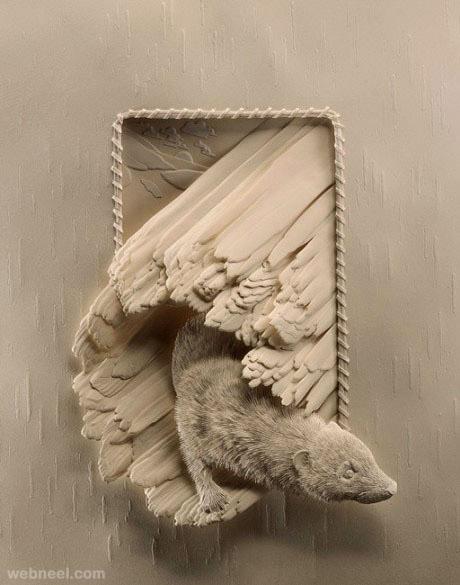 paper sculpture calvin nicholls