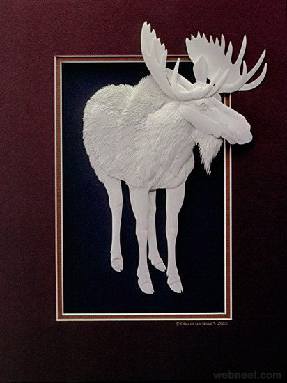 The Works Oakville >> 30 Creative and Beautiful Paper Sculptures by Calvin Nicholls