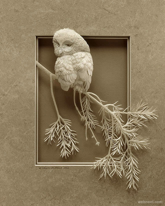 paper sculpture bird