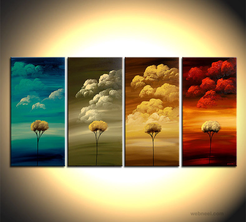 tree paintings season