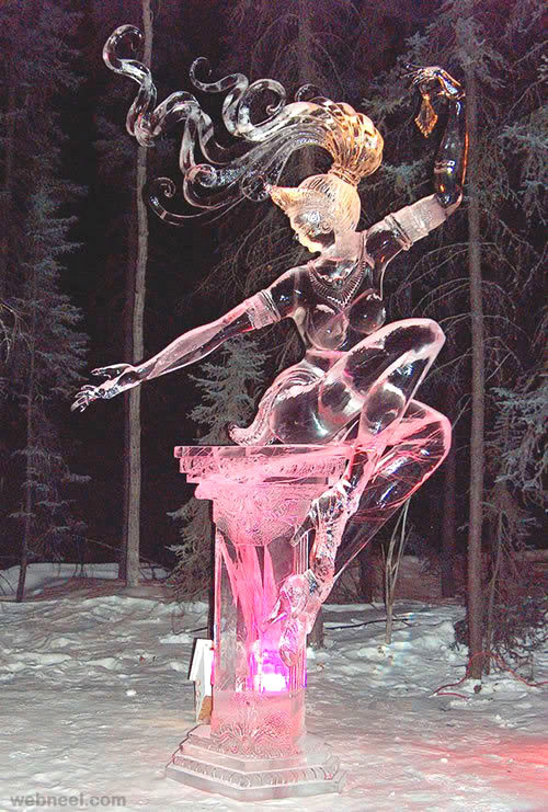 ice sculpture woman