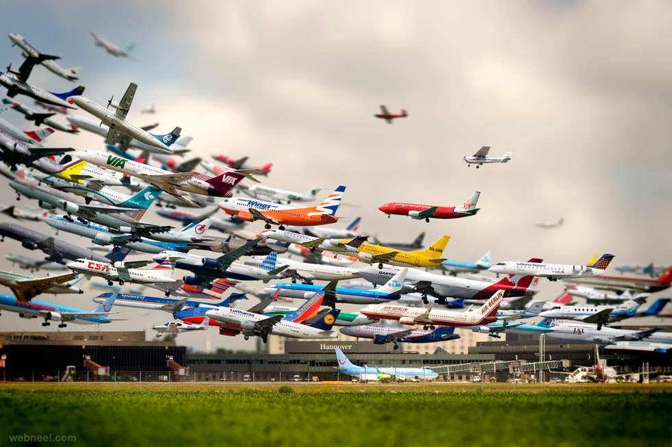 time lapse photography airport