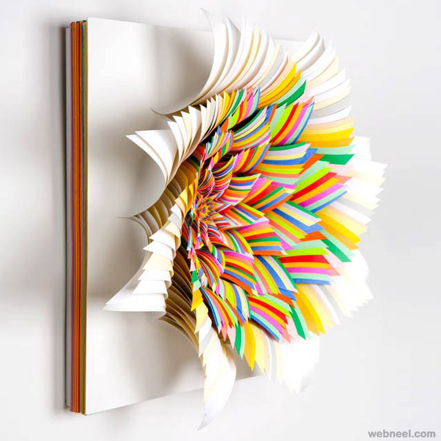 colorful paper sculpture